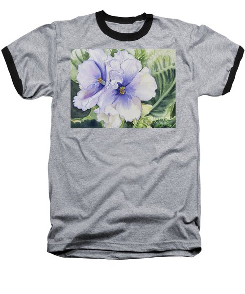 African Violet Baseball T-Shirt