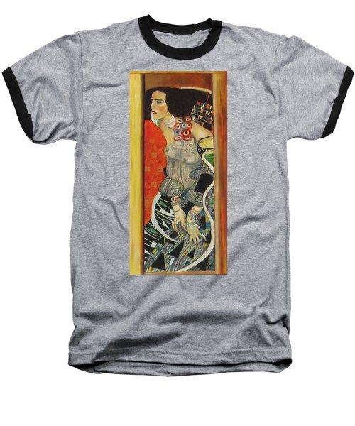 Baseball T-Shirt featuring the painting After Gustav Klimt by Sylvia Kula