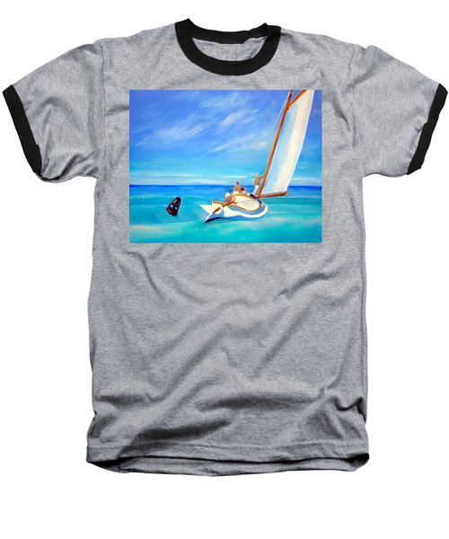After Hopper- Sailing Baseball T-Shirt
