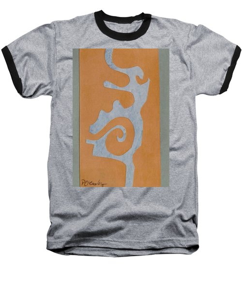 Swirl  Baseball T-Shirt by Patricia Cleasby
