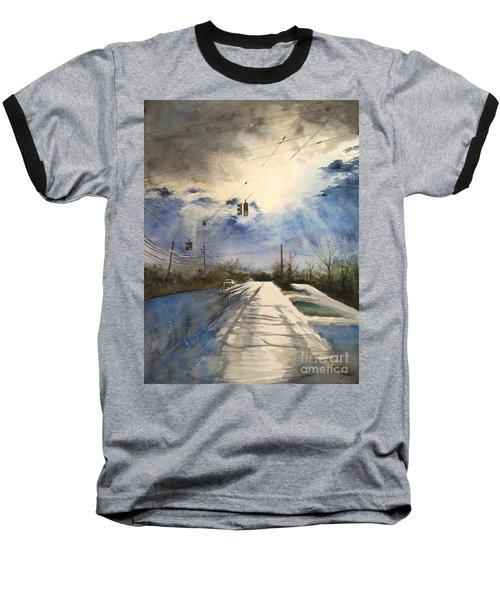 After Rain -on The Michigan Ave. Saline Michigan Baseball T-Shirt by Yoshiko Mishina