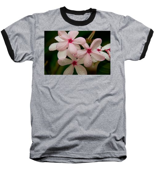 After The Rain - Pink Plumeria Baseball T-Shirt