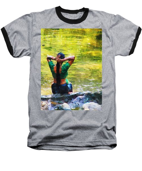 After The River Bathing. Indian Woman. Impressionism Baseball T-Shirt