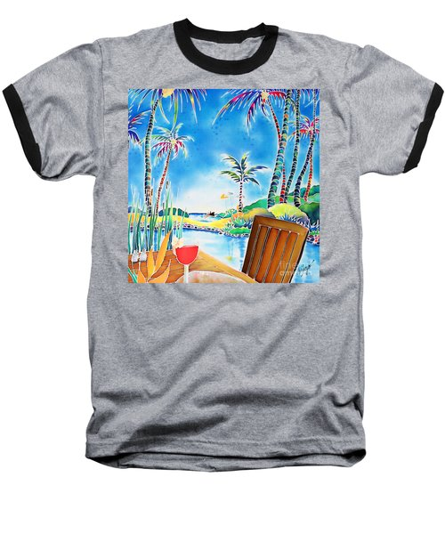 Baseball T-Shirt featuring the painting After The Squall by Hisayo Ohta