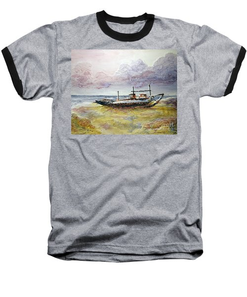 Baseball T-Shirt featuring the painting After The Storm by Joey Agbayani