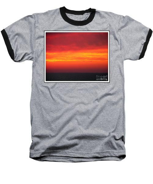Baseball T-Shirt featuring the photograph Afterglow by Mariarosa Rockefeller