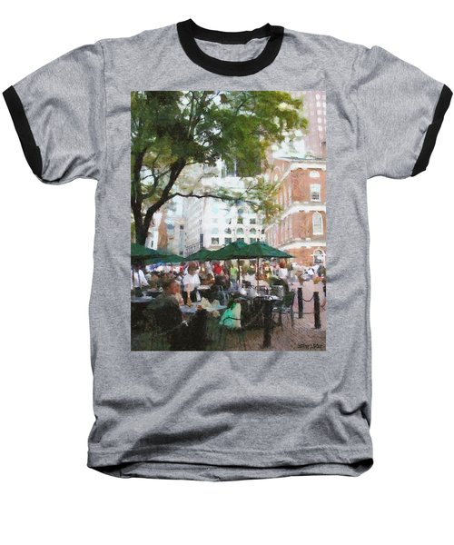 Afternoon At Faneuil Hall Baseball T-Shirt by Jeff Kolker