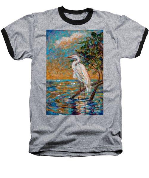 Afternoon Egret Baseball T-Shirt