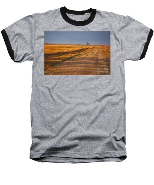 Afternoon Shadows Baseball T-Shirt by Mary Carol Story