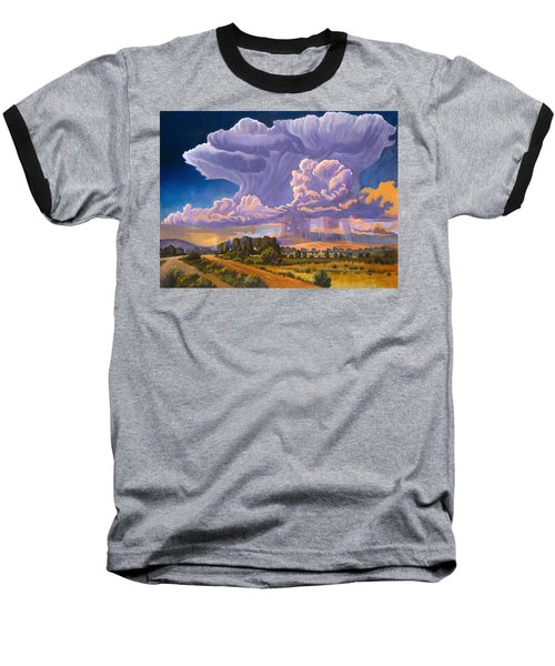 Baseball T-Shirt featuring the painting Afternoon Thunder by Art James West