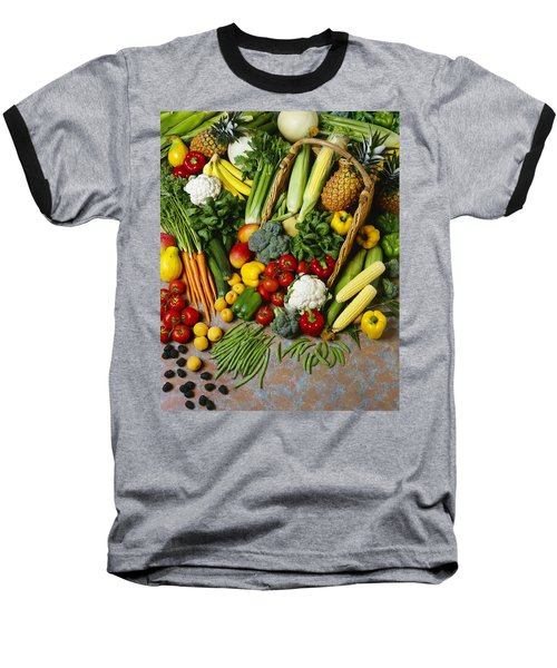 Agriculture - Mixed Fruit Baseball T-Shirt