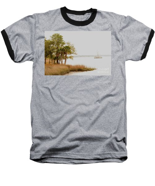 Aground At The Marsh Baseball T-Shirt