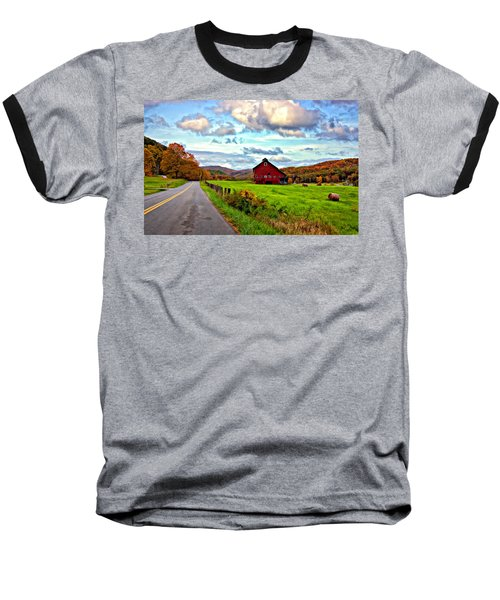 Ah...west Virginia Painted Baseball T-Shirt