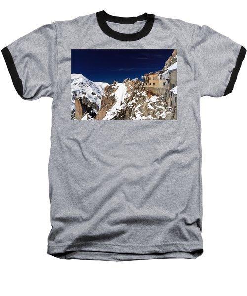 Aiguille Du Midi -  Mont Blanc Massif Baseball T-Shirt by Antonio Scarpi