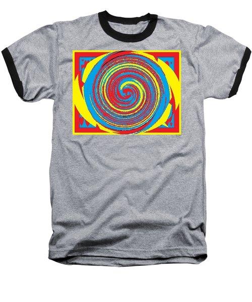 Baseball T-Shirt featuring the digital art Aimee Boo Swirled by Catherine Lott