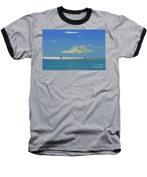 Baseball T-Shirt featuring the photograph Air Beautiful Beauty Blue Calm Cloud Cloudy Day by Paul Fearn
