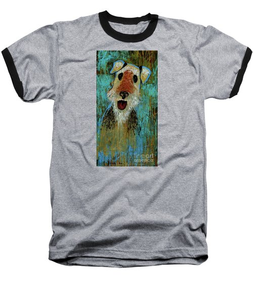 Airedale Terrier Baseball T-Shirt by Genevieve Esson