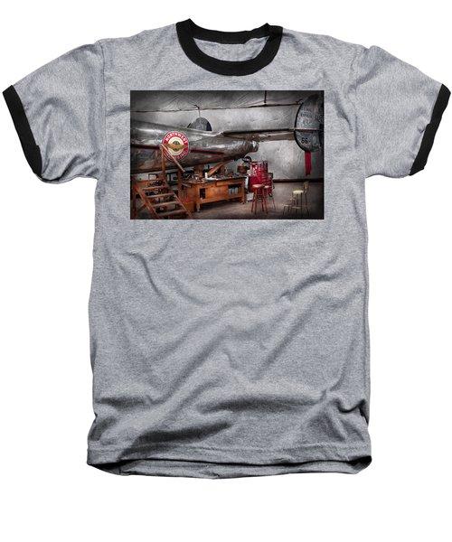 Airplane - The Repair Hanger  Baseball T-Shirt by Mike Savad