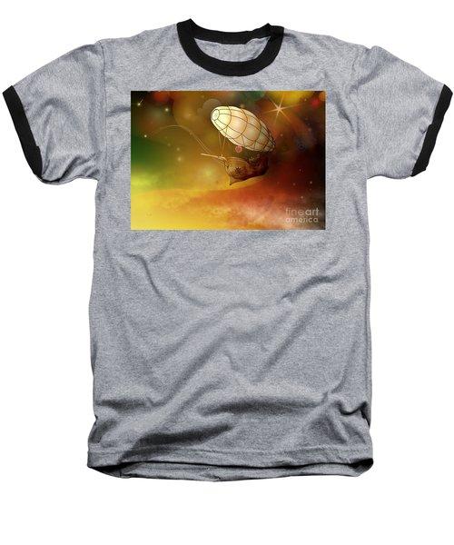 Airship Ethereal Journey Baseball T-Shirt