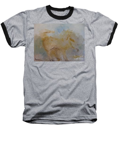 Baseball T-Shirt featuring the painting Airwalking by Laurie L