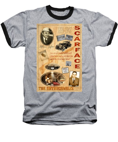 Al Capone Baseball T-Shirt by Andrew Fare