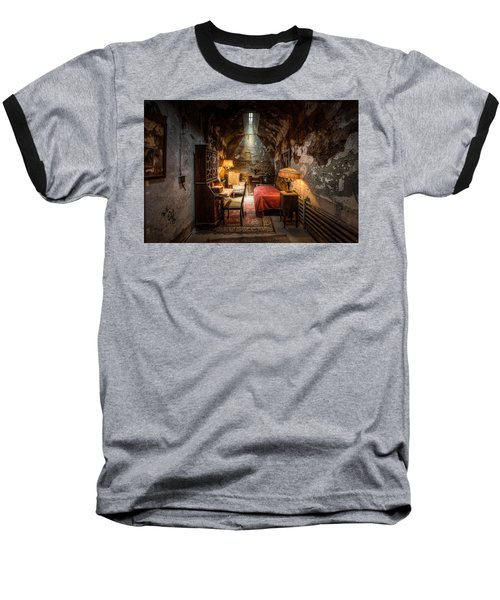 Al Capone's Cell - Historical Ruins At Eastern State Penitentiary - Gary Heller Baseball T-Shirt
