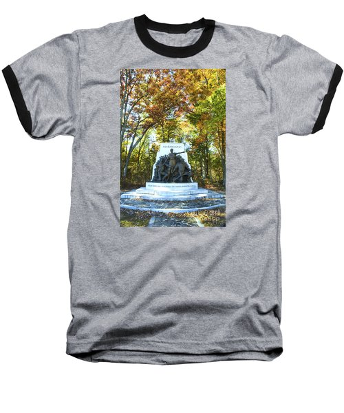 Alabama Monument At Gettysburg Baseball T-Shirt by Paul W Faust -  Impressions of Light
