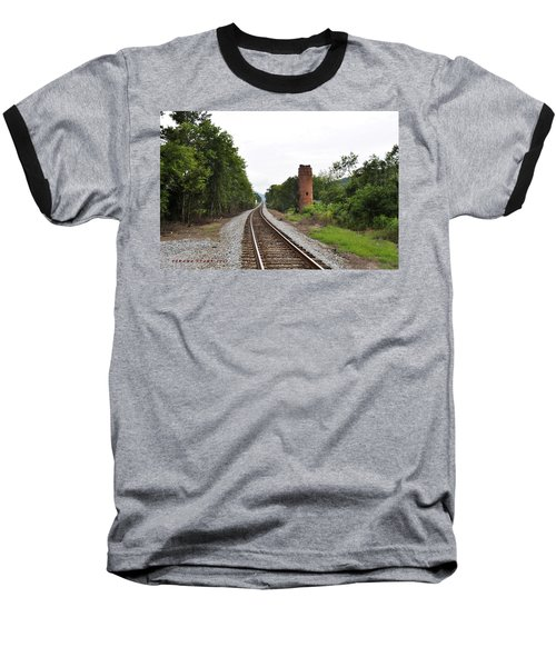 Baseball T-Shirt featuring the photograph Alabama Tracks by Verana Stark