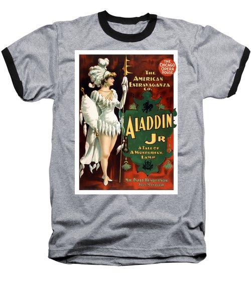 Aladdin Jr Amazon Baseball T-Shirt by Terry Reynoldson