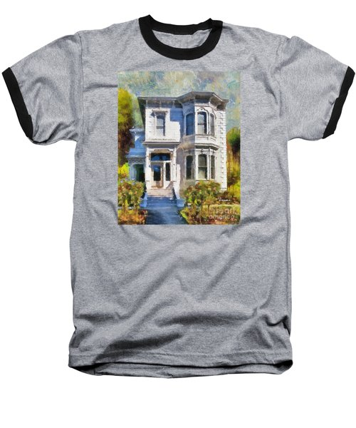 Baseball T-Shirt featuring the painting Alameda 1880 - Queen Anne  by Linda Weinstock