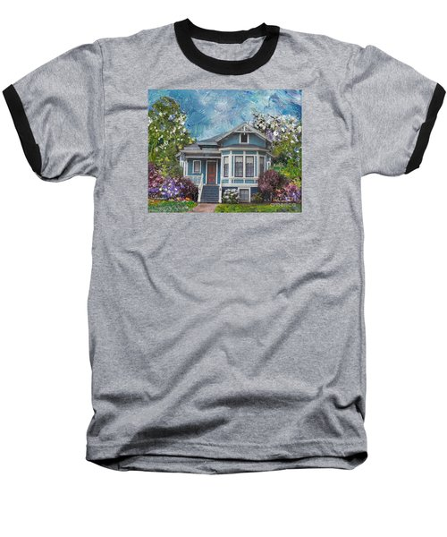 Baseball T-Shirt featuring the painting Alameda 1884 - Eastlake Cottage by Linda Weinstock