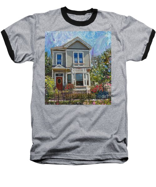 Baseball T-Shirt featuring the painting Alameda 1892 Queen Anne by Linda Weinstock
