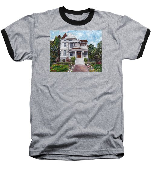 Baseball T-Shirt featuring the painting Alameda 1897 - Queen Anne by Linda Weinstock