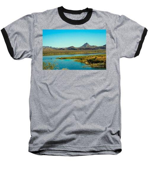 Alamo Lake Baseball T-Shirt by Robert Bales