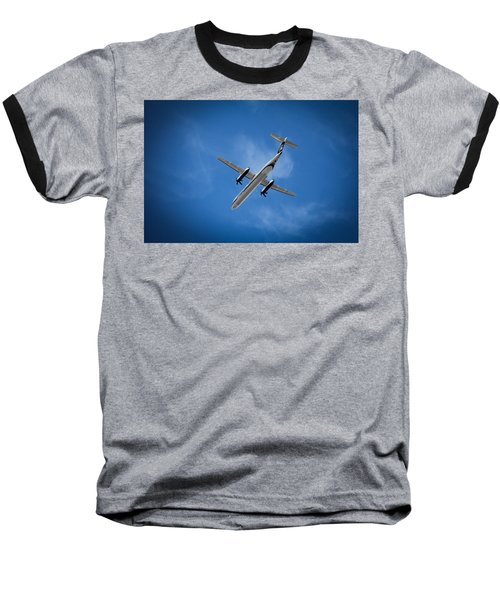 Alaska Airlines Turboprop Baseball T-Shirt by Aaron Berg