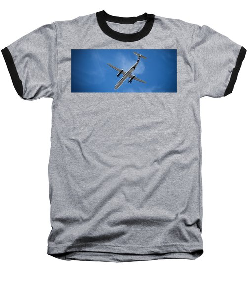 Alaska Airlines Turboprop Wide Version Baseball T-Shirt by Aaron Berg