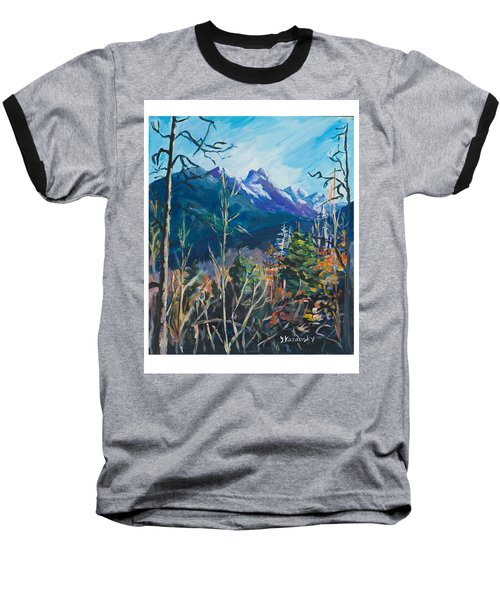 Alaska Autumn Baseball T-Shirt by Yulia Kazansky