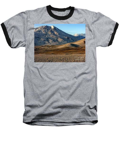 Baseball T-Shirt featuring the photograph Alaska Landscape Scenic Mountains Snow Sky Clouds by Paul Fearn