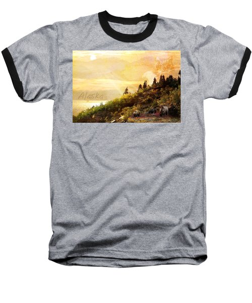 Baseball T-Shirt featuring the photograph Alaska Montage by Ann Lauwers