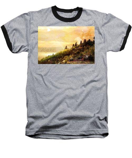 Alaska Montage Baseball T-Shirt