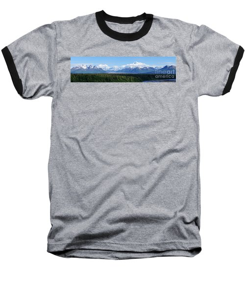 Alaskan Denali Mountain Range Baseball T-Shirt