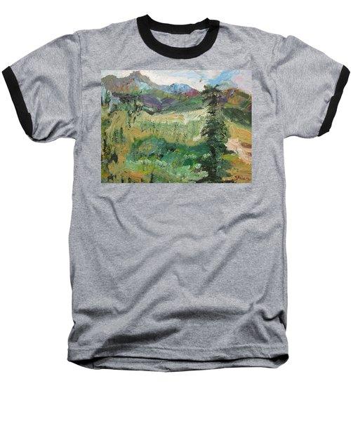 Alaskan Landscape Baseball T-Shirt