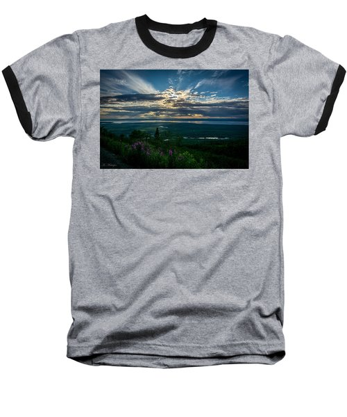 Alaskan Summer Sunset Baseball T-Shirt