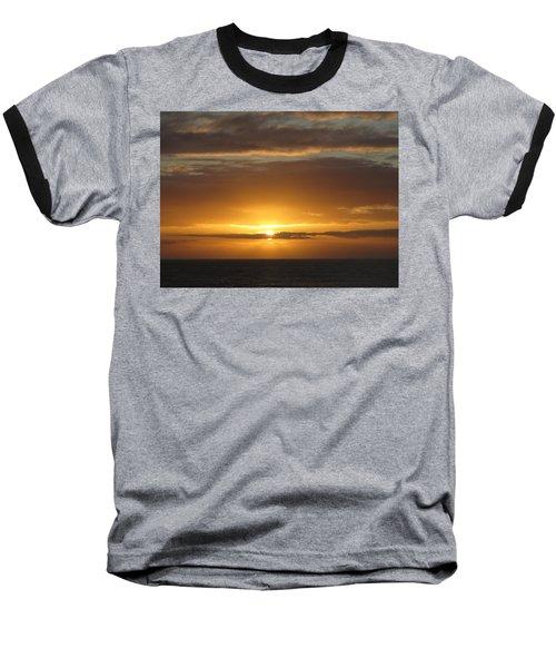 Baseball T-Shirt featuring the photograph Alaskan Sunset by Jennifer Wheatley Wolf