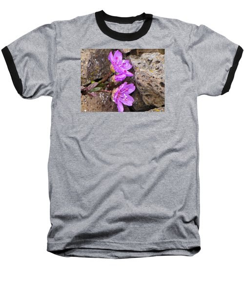 Baseball T-Shirt featuring the photograph Alaskan Wildflower by Julie Andel