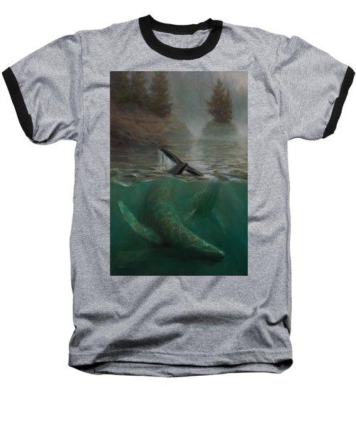 Humpback Whales - Underwater Marine - Coastal Alaska Scenery Baseball T-Shirt