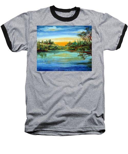 Alba Sul Lago Baseball T-Shirt