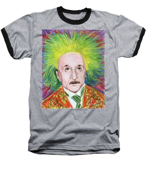 Albert Einstein Baseball T-Shirt by Yoshiko Mishina