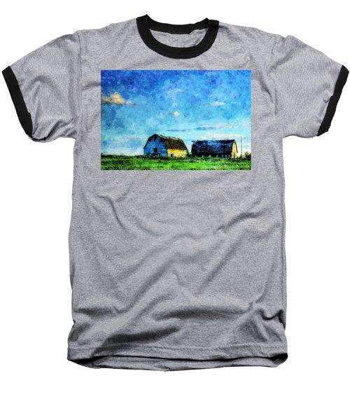 Alberta Barn At Sunset Baseball T-Shirt