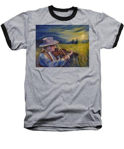 Alberta Lullaby Baseball T-Shirt by Anna  Duyunova